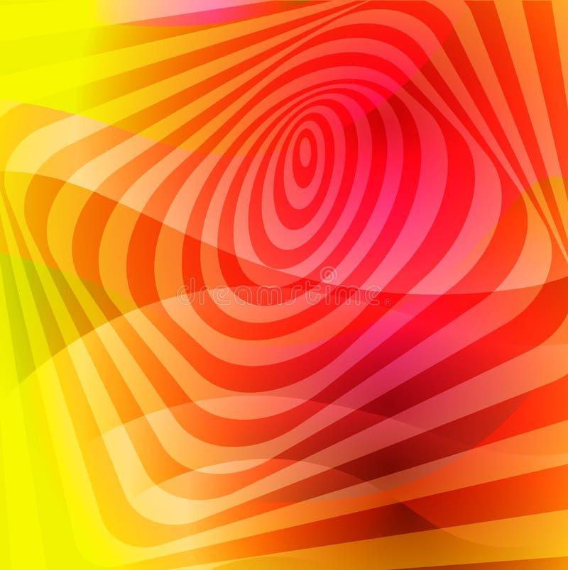 Kleurrijke creatieve verdraaide abstracte achtergrond met kleurrijke vervormde golvende lijnen Optische illusieeffect Decoratieve vector illustratie