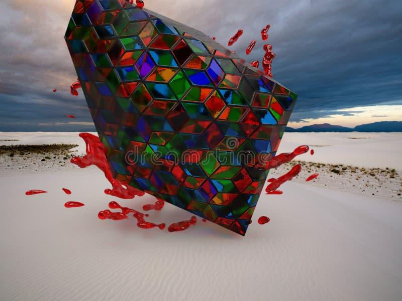 Kleurrijke cristals op kustachtergrond royalty-vrije stock foto's