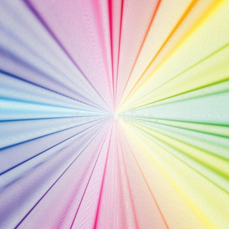 Kleurrijke 3d achtergrond met abstracte golven, lijnen Heldere kleurenkrommen, werveling stock illustratie