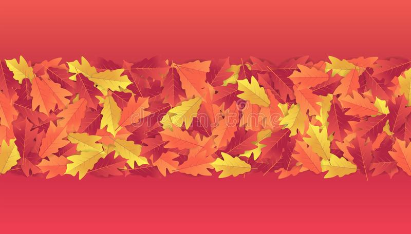 Kleurrijke de bannerachtergrond van de herfstbladeren royalty-vrije illustratie
