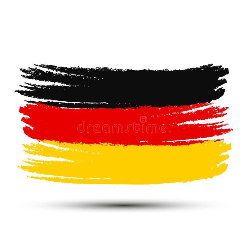 Kleurrijke de borstelslagen geschilderde vlag van Duitsland - voor voorraad royalty-vrije illustratie