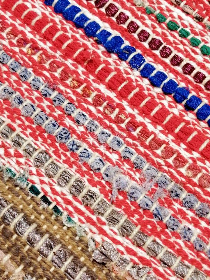 Kleurrijke de Deken Wevende Achtergrond van Traditionl Sadu stock afbeeldingen