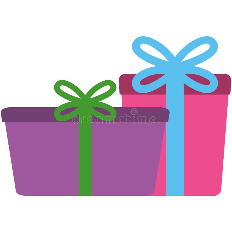 Kleurrijke de Dozenillustratie van de Verjaardagsgift stock illustratie