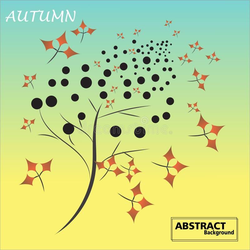 Kleurrijke de herfstachtergronden met dalende bladeren royalty-vrije illustratie