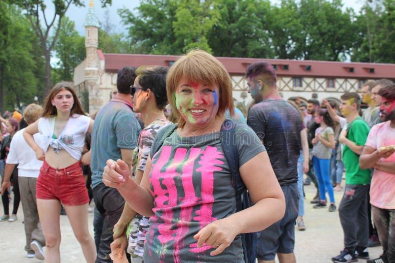 kleurrijke de hulstdag van vakantiekleuren stock foto