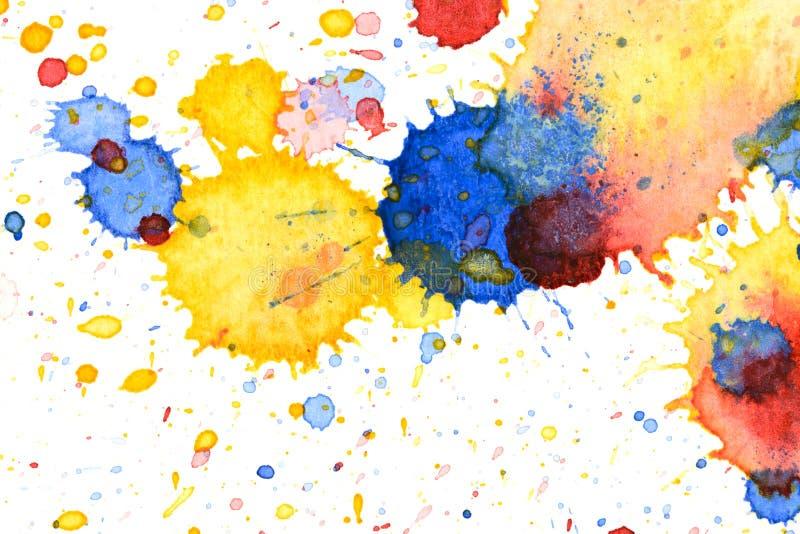 Kleurrijke de plonsachtergrond van de waterkleur royalty-vrije illustratie
