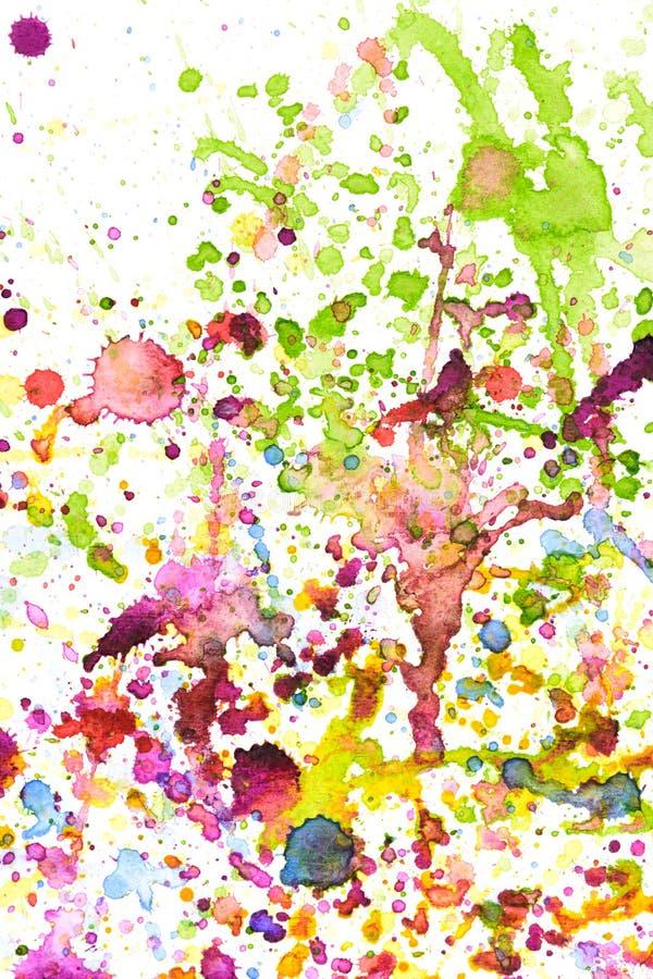 Kleurrijke de plonsachtergrond van de waterkleur vector illustratie