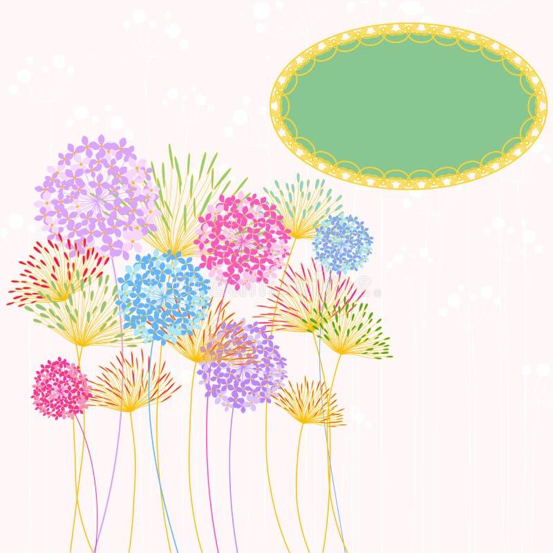 Kleurrijke de Tuinpartij van de Hydrangea hortensiabloem stock illustratie