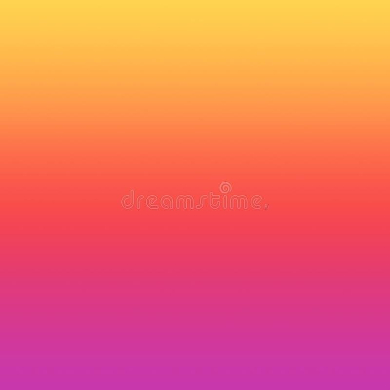 Kleurrijke de Zomerachtergrond Geel, Rode Ombre en Violet Gradient royalty-vrije illustratie