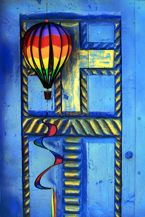 Kleurrijke deur royalty-vrije stock afbeeldingen