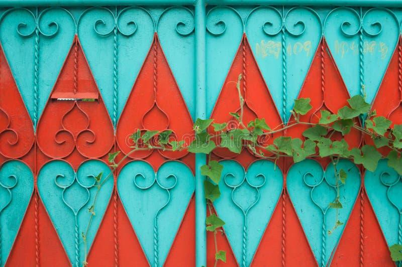 Kleurrijke deur royalty-vrije stock foto's