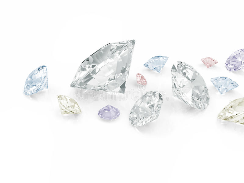 Kleurrijke Diamanten royalty-vrije illustratie