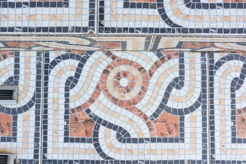 Kleurrijke dichte omhooggaand van de mozaïekvloer stock afbeelding