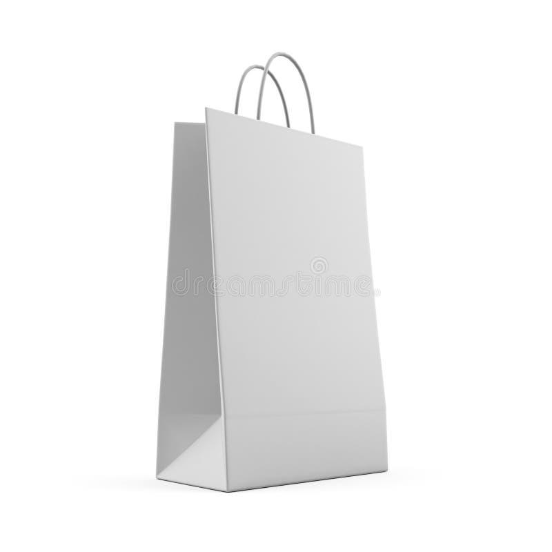 Kleurrijke die document het winkelen zakken op wit worden geïsoleerd het 3d teruggeven royalty-vrije stock afbeeldingen