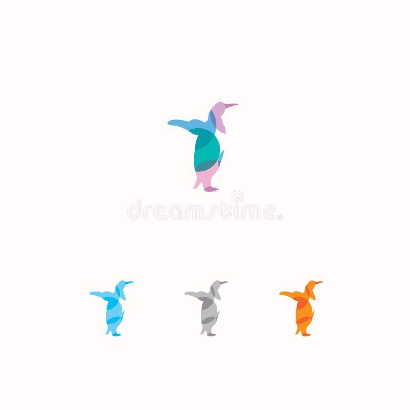 Kleurrijke dierlijke vectorillustratie Het ontwerp van het pinguïnpictogram Pinguïnembleem vector illustratie
