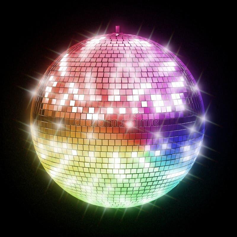 Kleurrijke discobal vector illustratie
