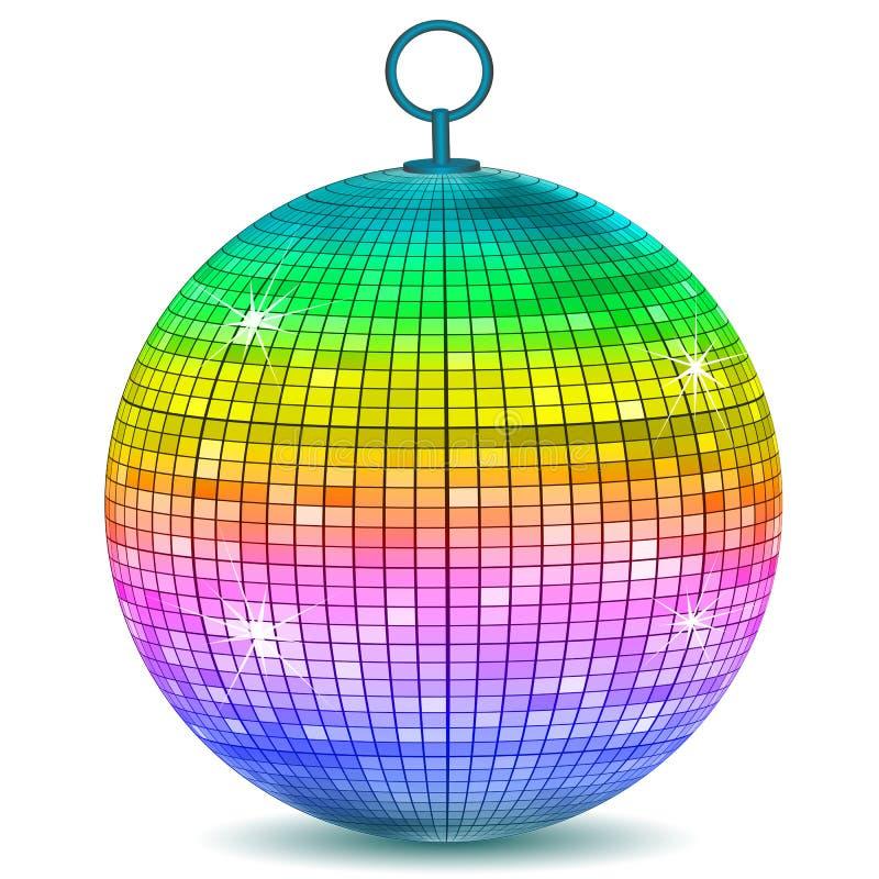 Kleurrijke discobal stock illustratie