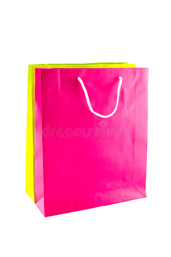 Kleurrijke document het winkelen geïsoleerde zakken royalty-vrije stock foto