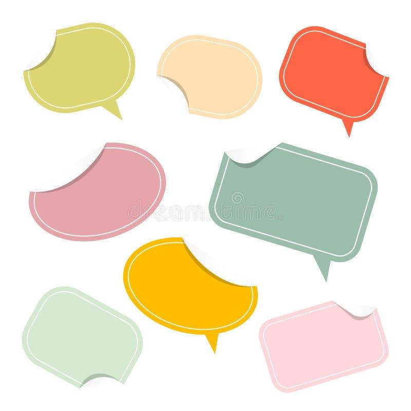 Kleurrijke Document Stickers - Etiketten royalty-vrije illustratie