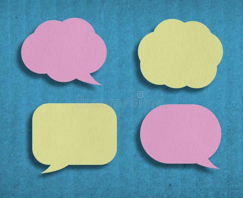 kleurrijke document toespraakbellen stock foto's