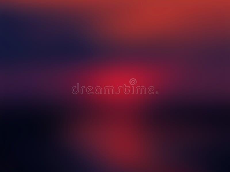 Kleurrijke donkerrode en blauwe abstracte achtergrond met vignet Illustratie stock foto's