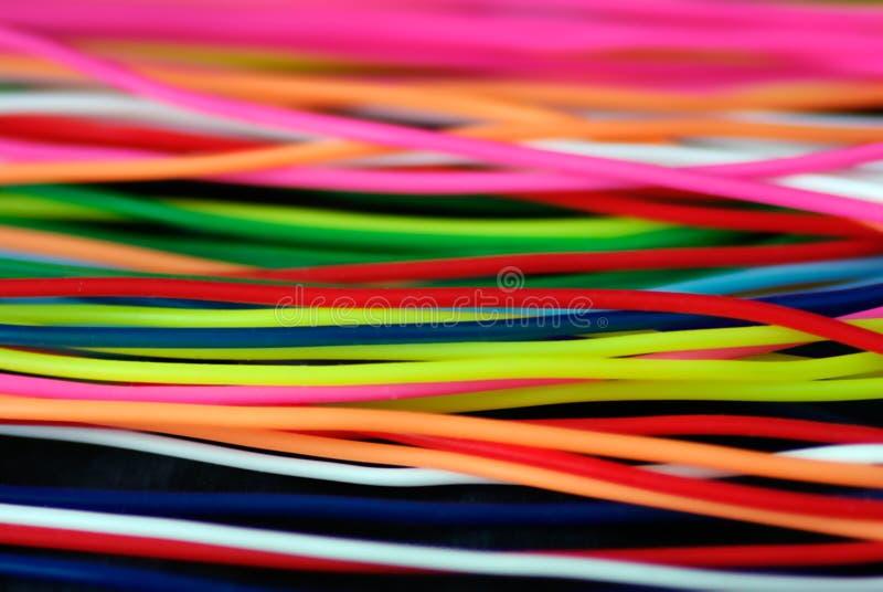 Kleurrijke draden royalty-vrije stock foto's