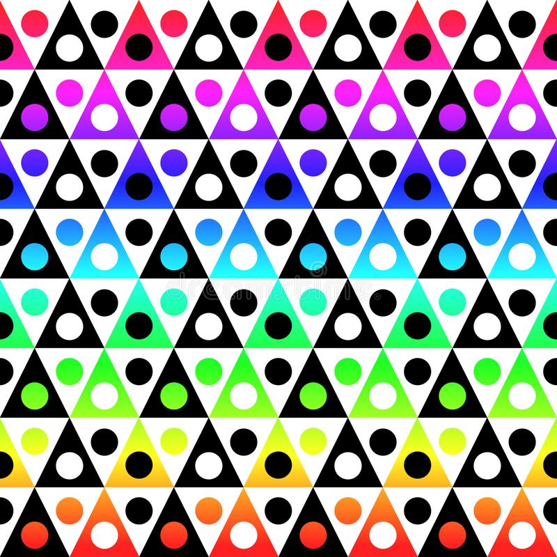Kleurrijke driehoekige vormen naadloze textuur royalty-vrije illustratie