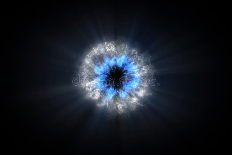 Kleurrijke drukgolf bestaande deeltjes VFX-elementen, Grafische Elementen De lichtstraal, glanst door de wolken, stof royalty-vrije illustratie