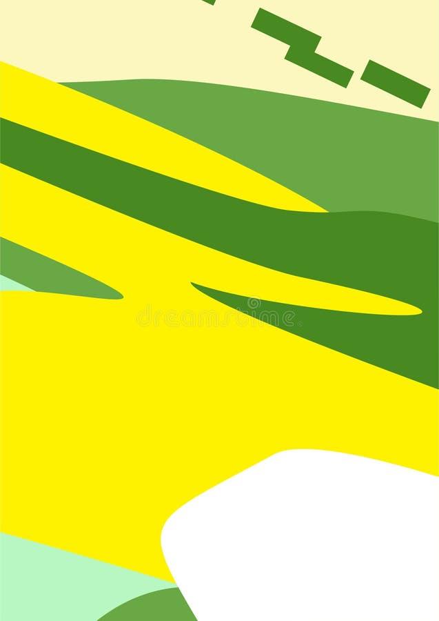 Kleurrijke Eenvoudige Abstracte Digitale Kunsten/Schilderijen/Achtergronden/Illustraties stock illustratie