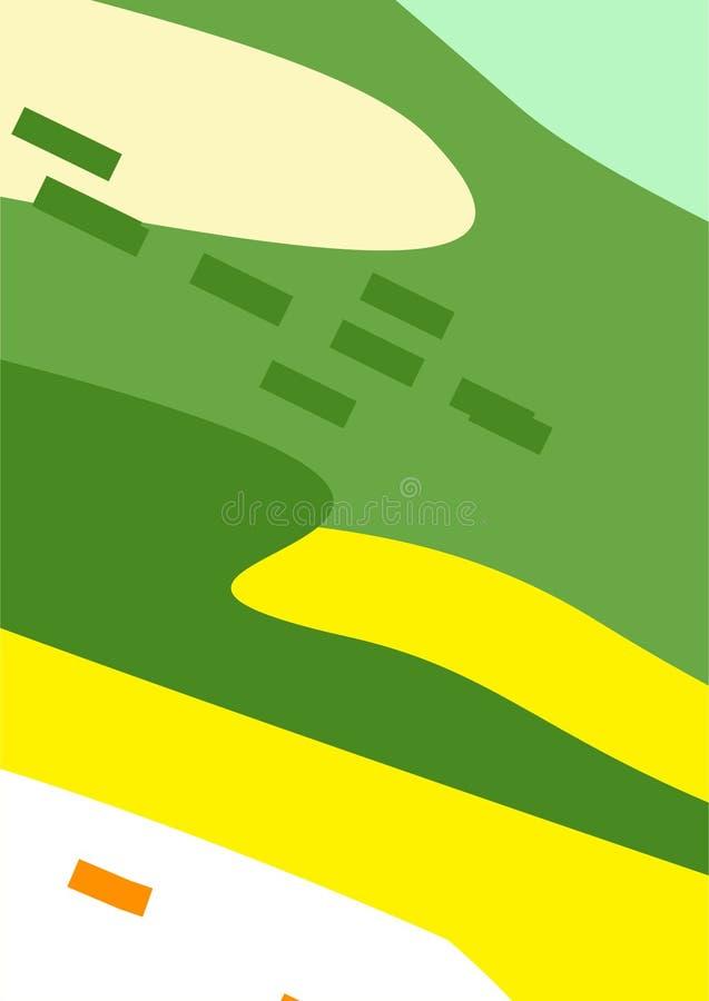 Kleurrijke Eenvoudige Abstracte Digitale Kunsten/Schilderijen/Achtergronden/Illustraties vector illustratie
