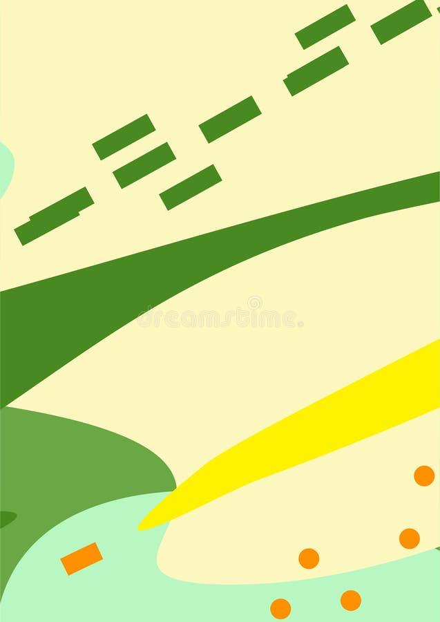 Kleurrijke Eenvoudige Abstracte Digitale Kunsten/Schilderijen/Achtergronden/Illustraties royalty-vrije illustratie