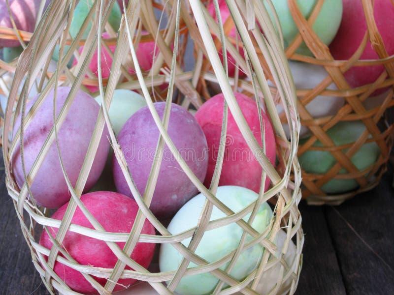 Kleurrijke Eieren royalty-vrije stock foto's