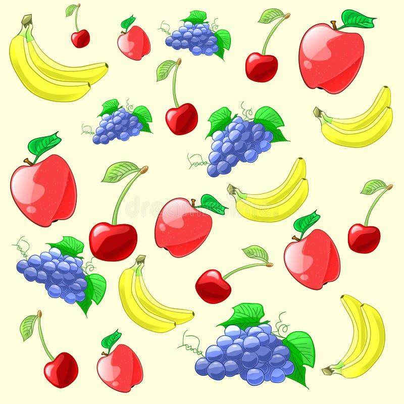 Kleurrijke en verse vruchten patroon Vector illustratie vector illustratie