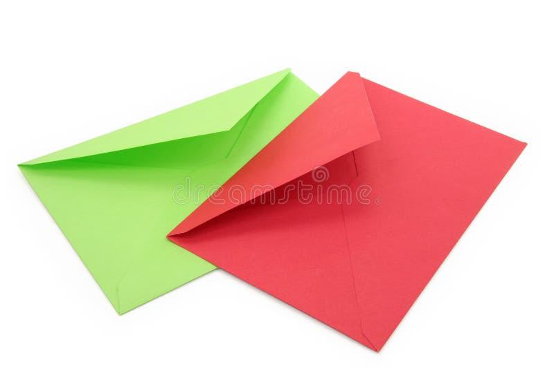 Kleurrijke enveloppen royalty-vrije stock afbeeldingen