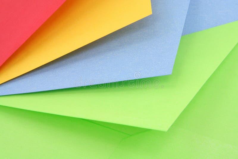 Kleurrijke enveloppen royalty-vrije stock foto