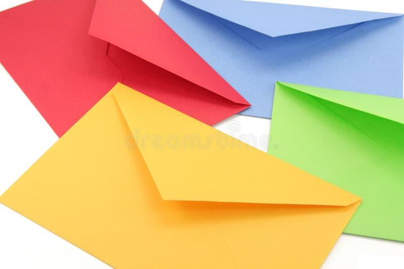 Kleurrijke enveloppen stock afbeelding