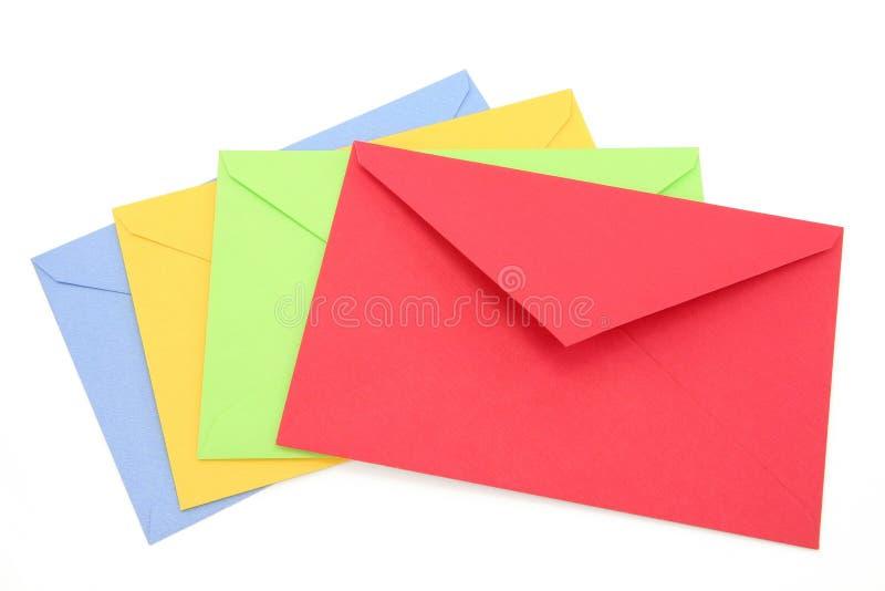 Kleurrijke enveloppen royalty-vrije stock foto's