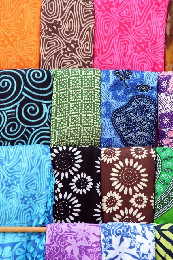 Kleurrijke etnische sjaals stock foto's