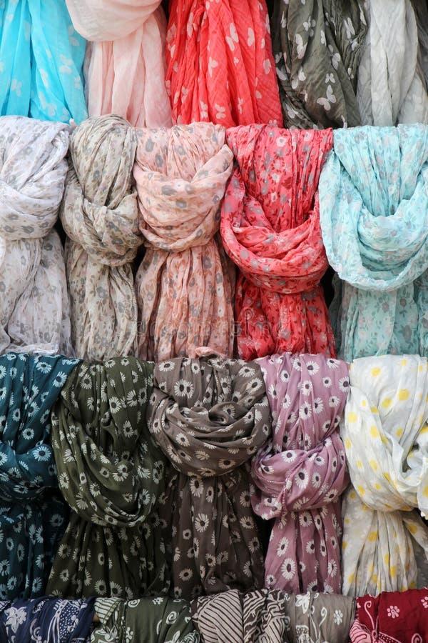 Kleurrijke etnische sjaals royalty-vrije stock afbeeldingen