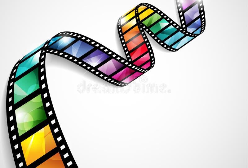Kleurrijke filmstrook stock illustratie