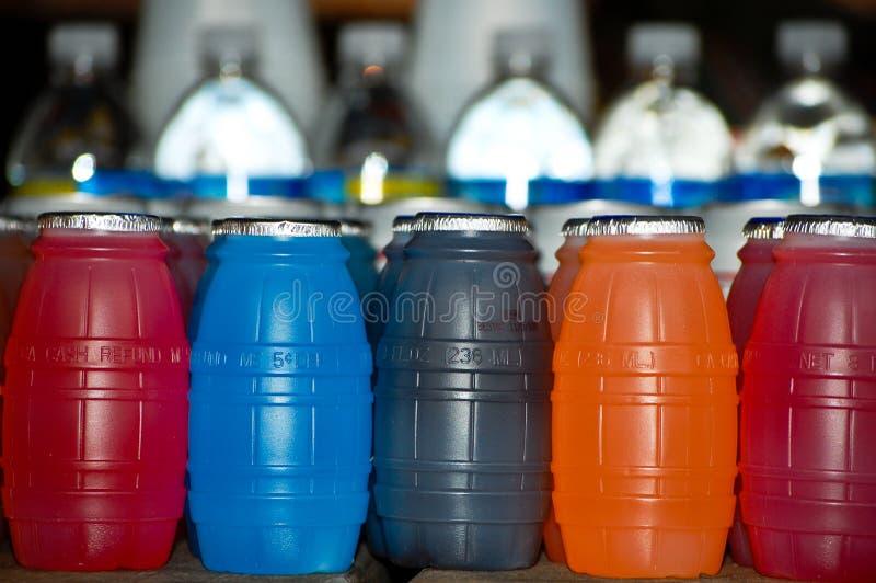 Kleurrijke Flessen stock afbeelding