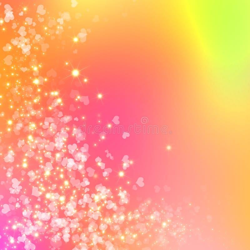 Kleurrijke fonkelingsachtergrond royalty-vrije illustratie