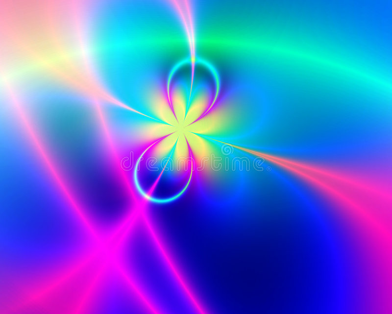 Kleurrijke Fractal royalty-vrije illustratie
