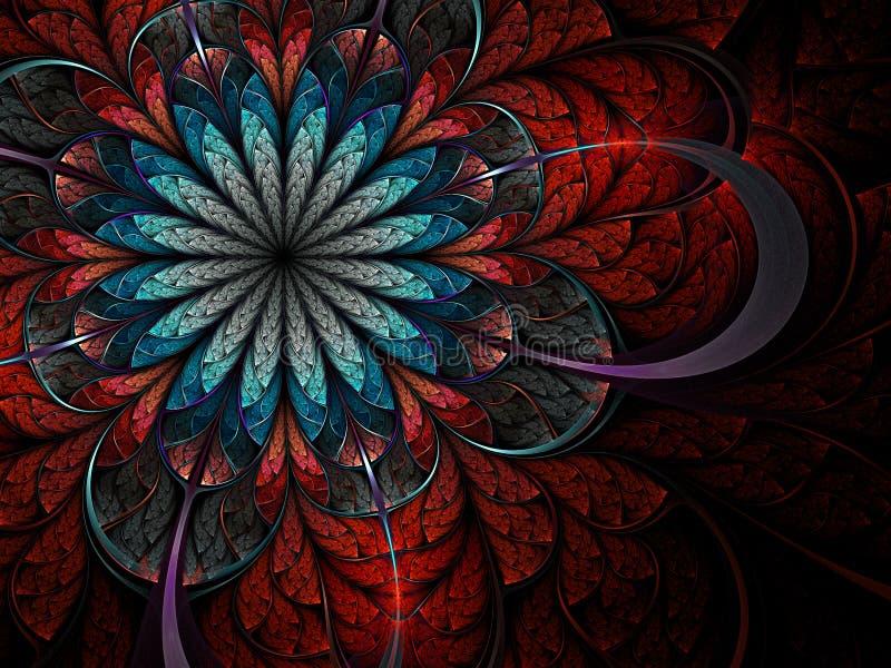 Kleurrijke fractal bloem stock illustratie