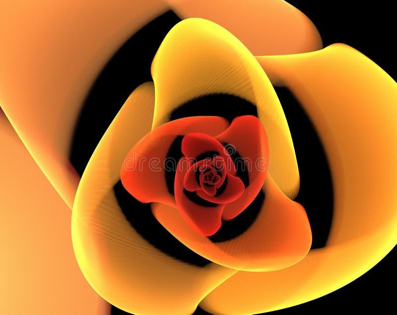 Kleurrijke fractal samenvatting stock illustratie
