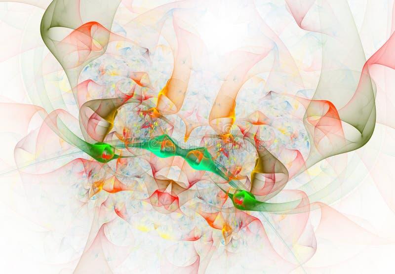 Kleurrijke fractal vlinder Droomsamenvatting stock illustratie