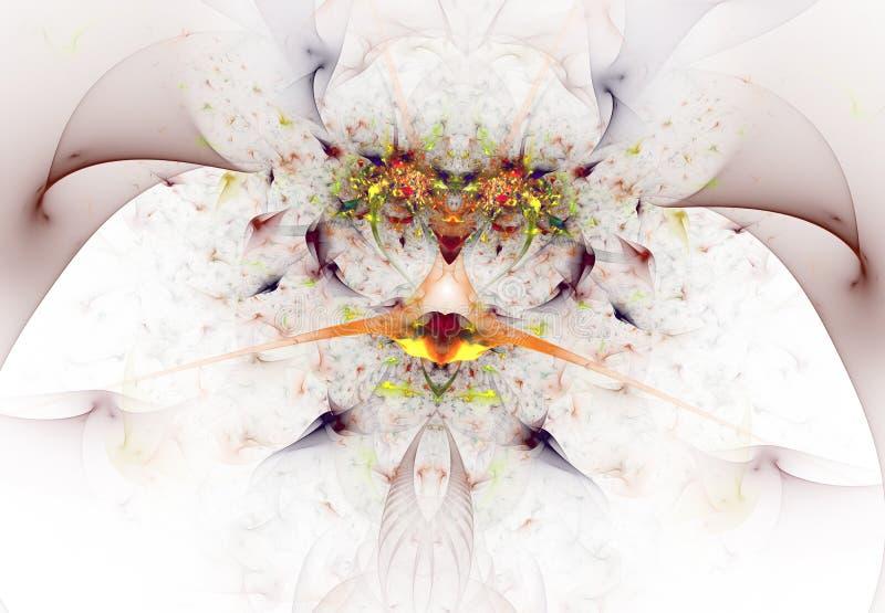Kleurrijke fractal vlinder Droomsamenvatting vector illustratie