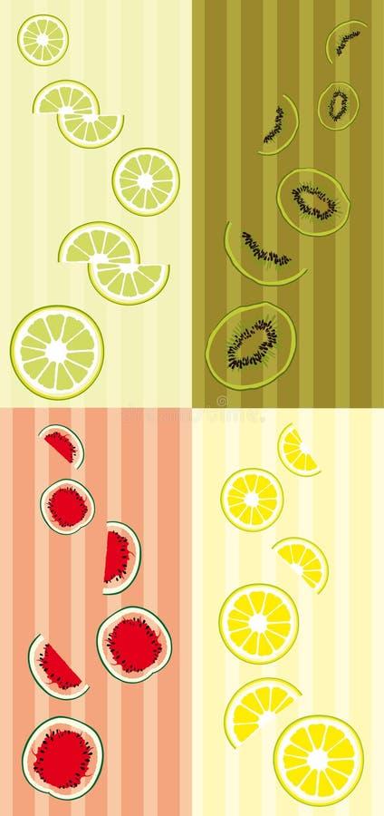 Download Kleurrijke fruitbanners vector illustratie. Illustratie bestaande uit vers - 10775283