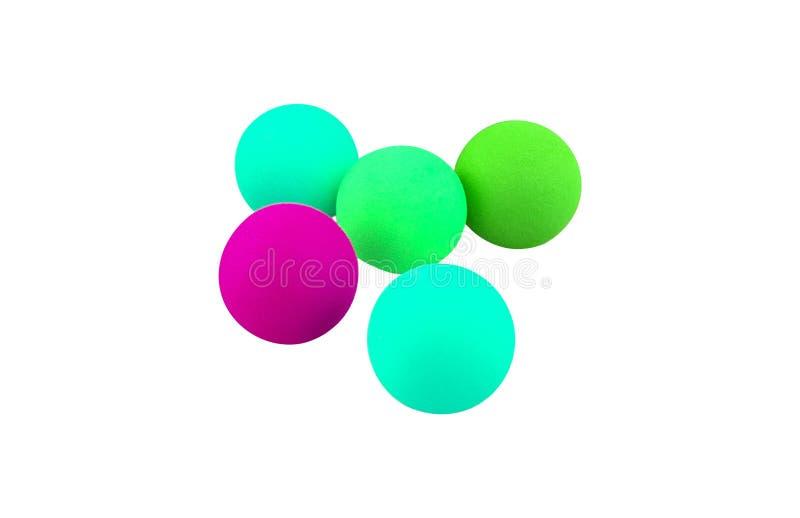 Kleurrijke geïsoleerde ballen stock afbeelding