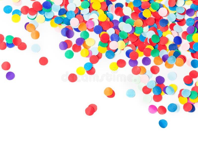 Kleurrijke geïsoleerde confettien, royalty-vrije stock afbeelding
